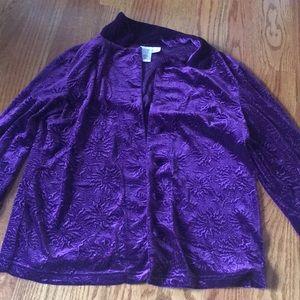 Coldwater creek M women's purple Valore jacket